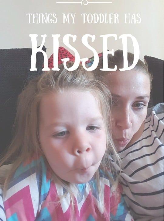 toddler kiss