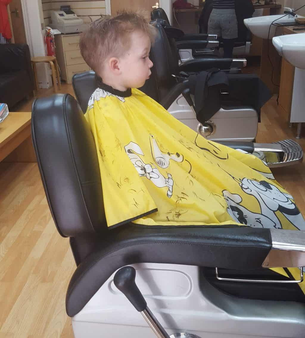 arlo at the barbers