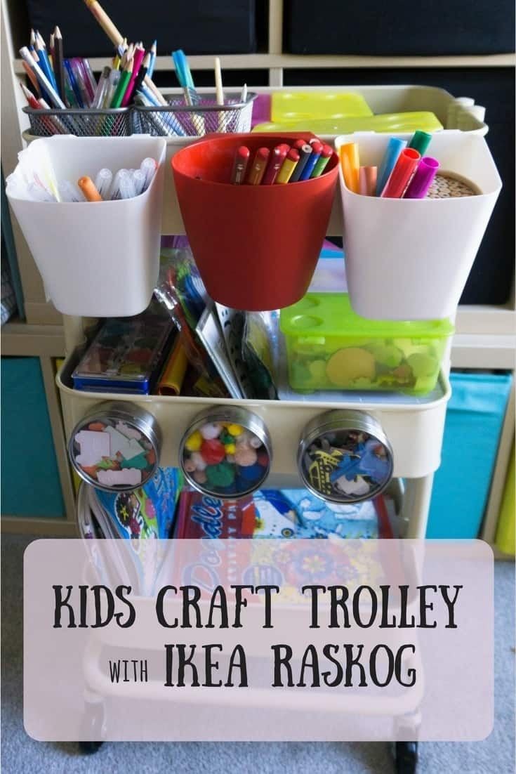 DIY kids craft trolley ikea raskog