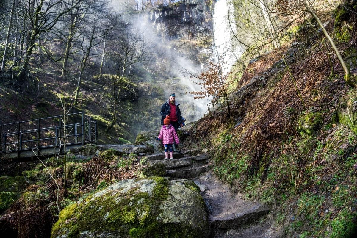 Pistyll Rhaeadr waterfall Wales