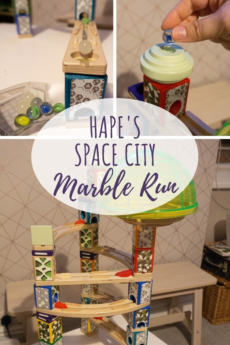 hape space city marble run