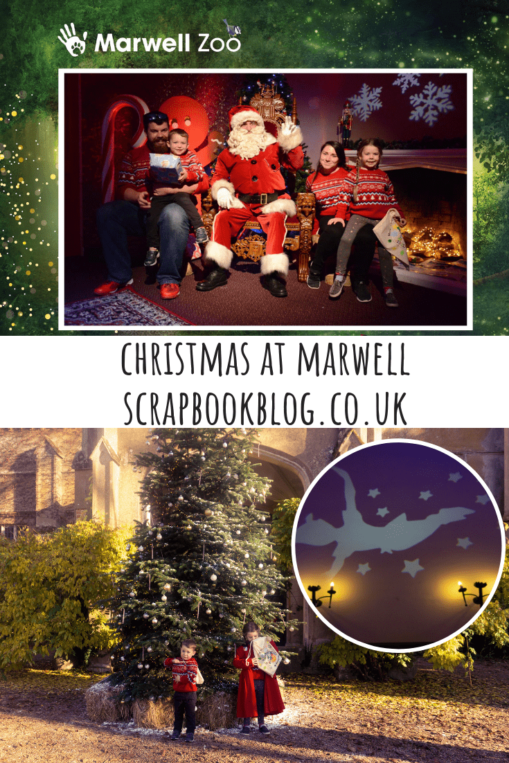 #christmas at Marwell Zoo, Hampshire. The Christmas experience includes an interactive story, mince pies, crafts and a visit and gift from Father Christmas