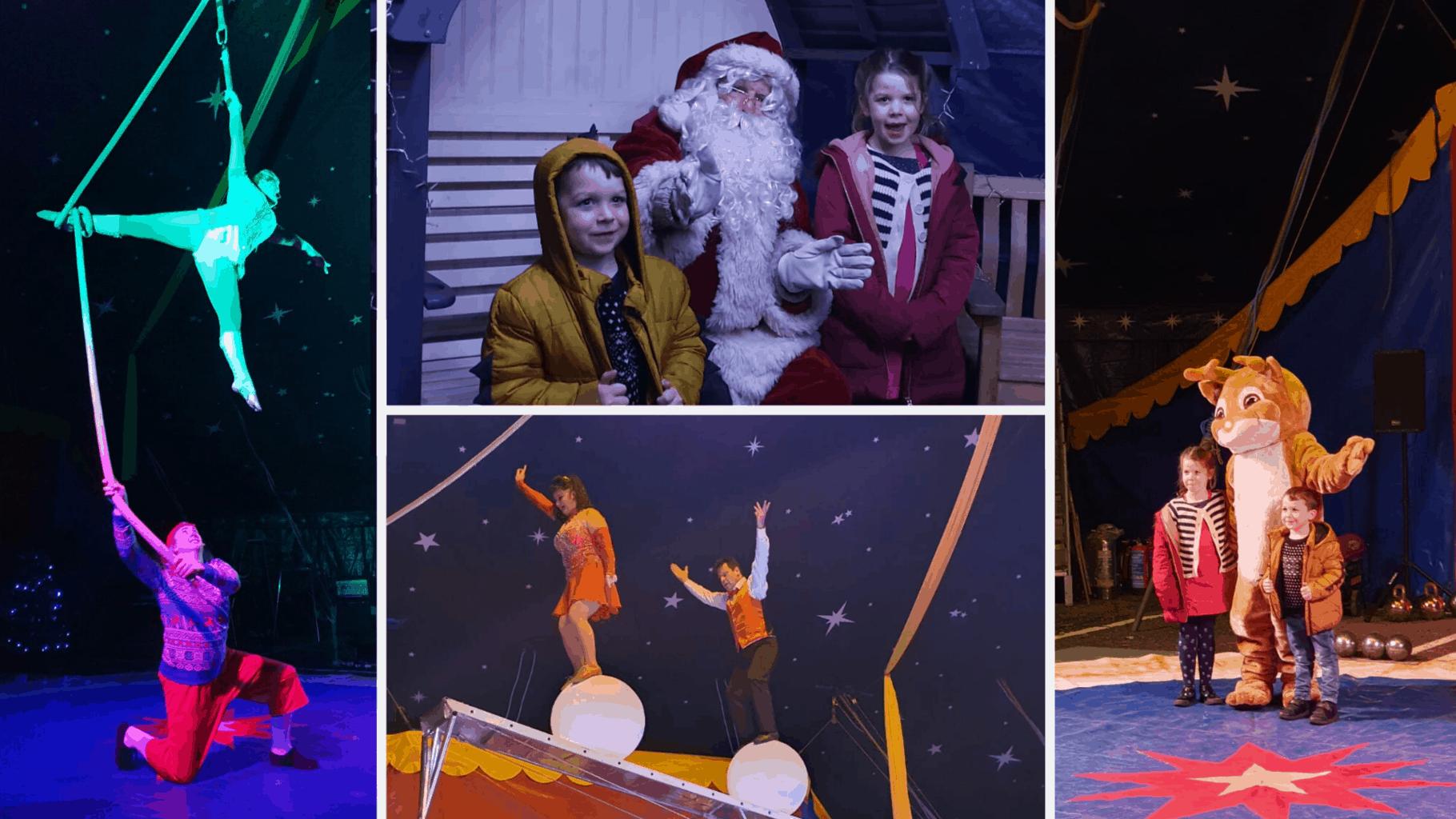 squires garden centre circus with santa