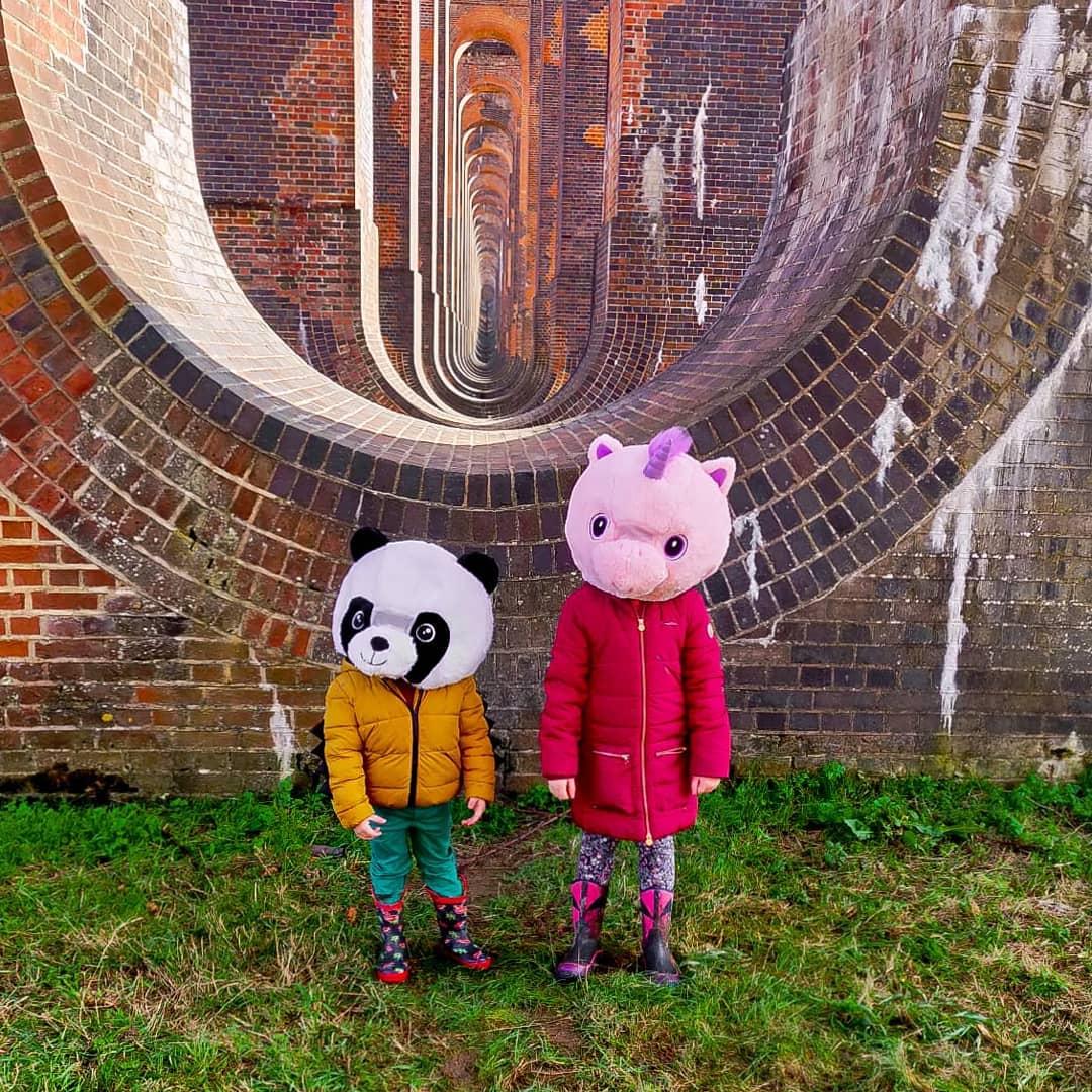 kids in animal heads