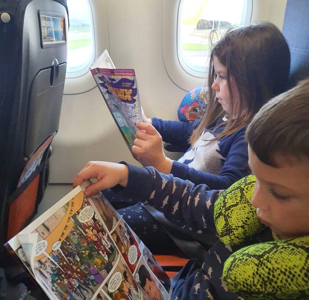 phoenix comic on a plane